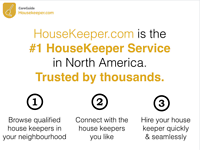 Looking for excellent housekeeper