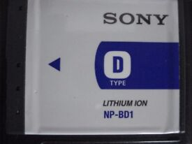 SONY CYBER-SHOT LITHIUM ION DIGITAL CAMERA BATTERY (NP-BD1)