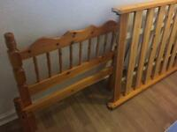 Pine single bed frame (no mattress) delivery available