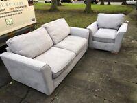 Sofa, Armchair, Footstall for Sale