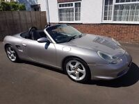 2003 Porsche Boxster 2.7 Petrol in Meridian Grey FSH Turbo Twist Alloy Wheels