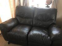 Italian Leather recliner sofas