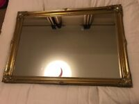 Gold Coloured Ornate Mirror Table Plan