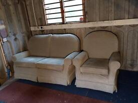 Sofas 2 seater and chair