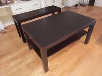 IKEA Coffee table and TV stand plus Argos bedside cabinet