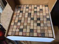 Mosaic tiles (Tumbled Travertine Marble Mixed Mosaic)