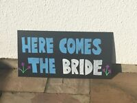 Here Comes the Bride Sign - Wedding Decoration