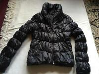 H&M ladies puffy jacket brown size : 8 used £5