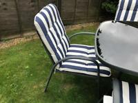 Garden Table and 4 Chairs for sale