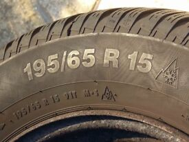 set of 4 winter tyres on steel rims