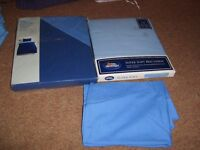 brand new blue single duvet set, fitted sheet and pillow case £10 no offers