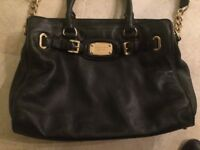 Genuine Black Leather Michael Kors Handbag