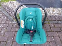 New Car Seater for baby (only twice used)