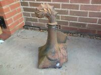Reclaimed victorian terracotta roof finial