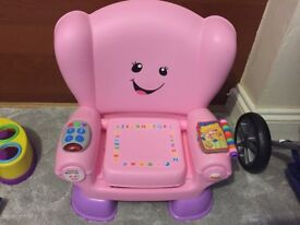 Pink toy chair