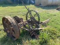 Bamlett thirsk finger bar mower horse/tractor drawn