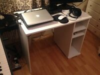 IKEA White Wooden Desk - Borgsjo - Home Office