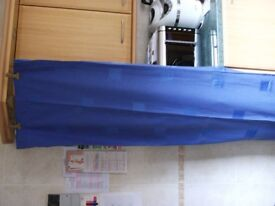 Two Pair of Long Length Blue Curtains