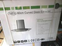 Curved glass and extractor fan