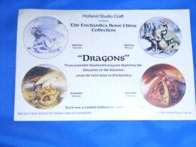 Set of four Dragon plates