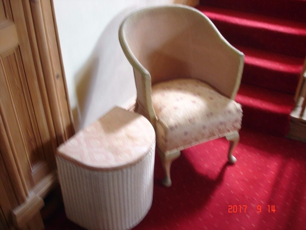 Vintage LLoyd loom chair and Laundry Baskets
