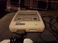 Super Nintendo SNES Console with original cables