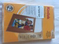 Kodak photo paper 60 sheets 4x6