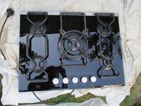 AEG Kitchen Hob, back splash and AEG extractor fan