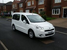 12 REG PEUGEOT PARTNER TEPEE 1.6 HDI 92 WHITE 5DR TWIN-SLD SPEC £30 TAX FREE-DELIVERY @BARGAIN CARS