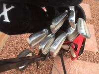 Golf clubs, Bag, Trolley
