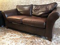 Designer Leather sofa in Excellent condition