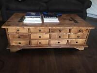 Laura Ashley 12 door coffee Table/ storage - Beautiful