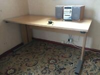 Beech office desk