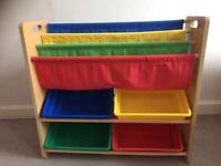 Child's toy storage / book case