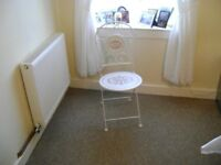 Lovely white folding chair with french design