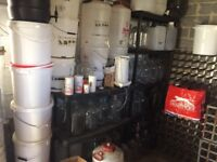 Large collection of brewing equipment