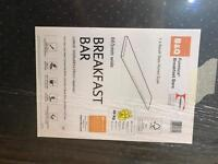 B+Q breakfast bar basalt slate Formica