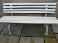 shapely white bench