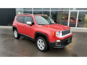 2017 Jeep Renegade Limited, NAV, SUNROOF, LEATHER, 4X4