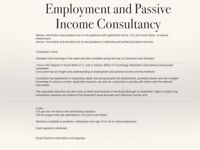 Employment and Passive Income Consultancy