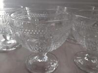 5 Glass bowls - Wedding