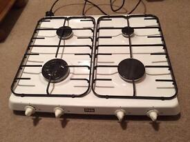 Gas Cooker Hob in White