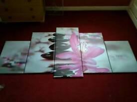 Five piece canvas picture