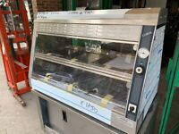 NEW HOT DISPLAY CABINET FAST FOOD RESTAURANT CAFE BBQ CATERING COMRCIAL SHOP