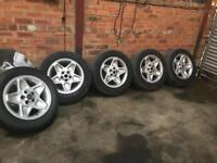 Landrover mondial alloy wheels and tyres/vw/t5