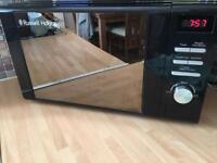 Black Russell Hobbs microwave