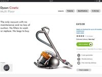 Dyson Cinetic Multi Floor DC54 vacuum cleaner hoover