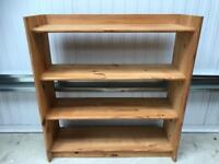 Pine book shelf FREE DELIVERY PLYMOUTH AREA