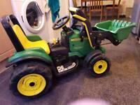 12v John Deere tractor with loader