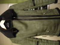 girl/ladies olive green flying jacket size 6